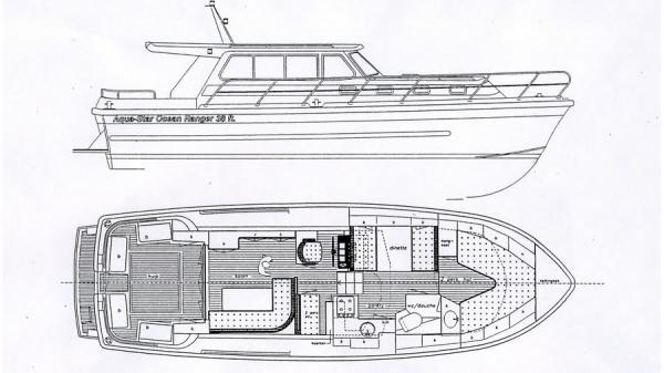 Aquastar 38 aft cockpit layout